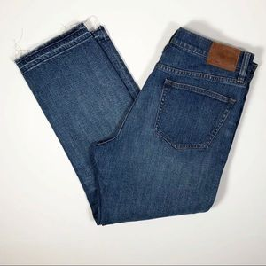 J Crew Denim Vintage Crop Jeans Destroyed Raw Hem